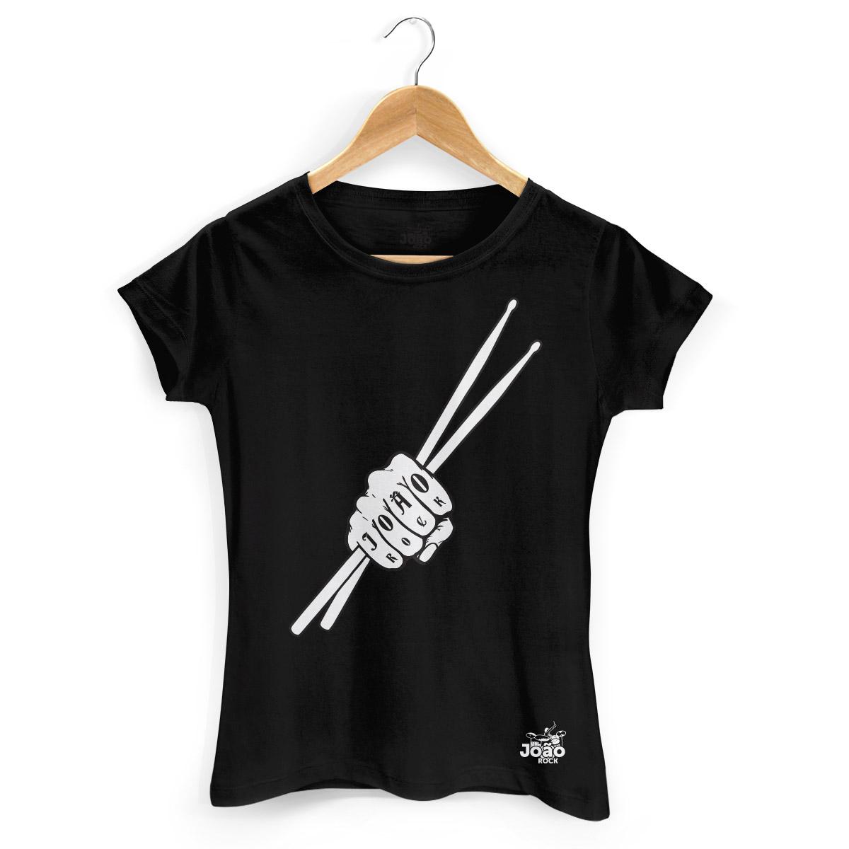 Camiseta Feminina João Rock Baqueta