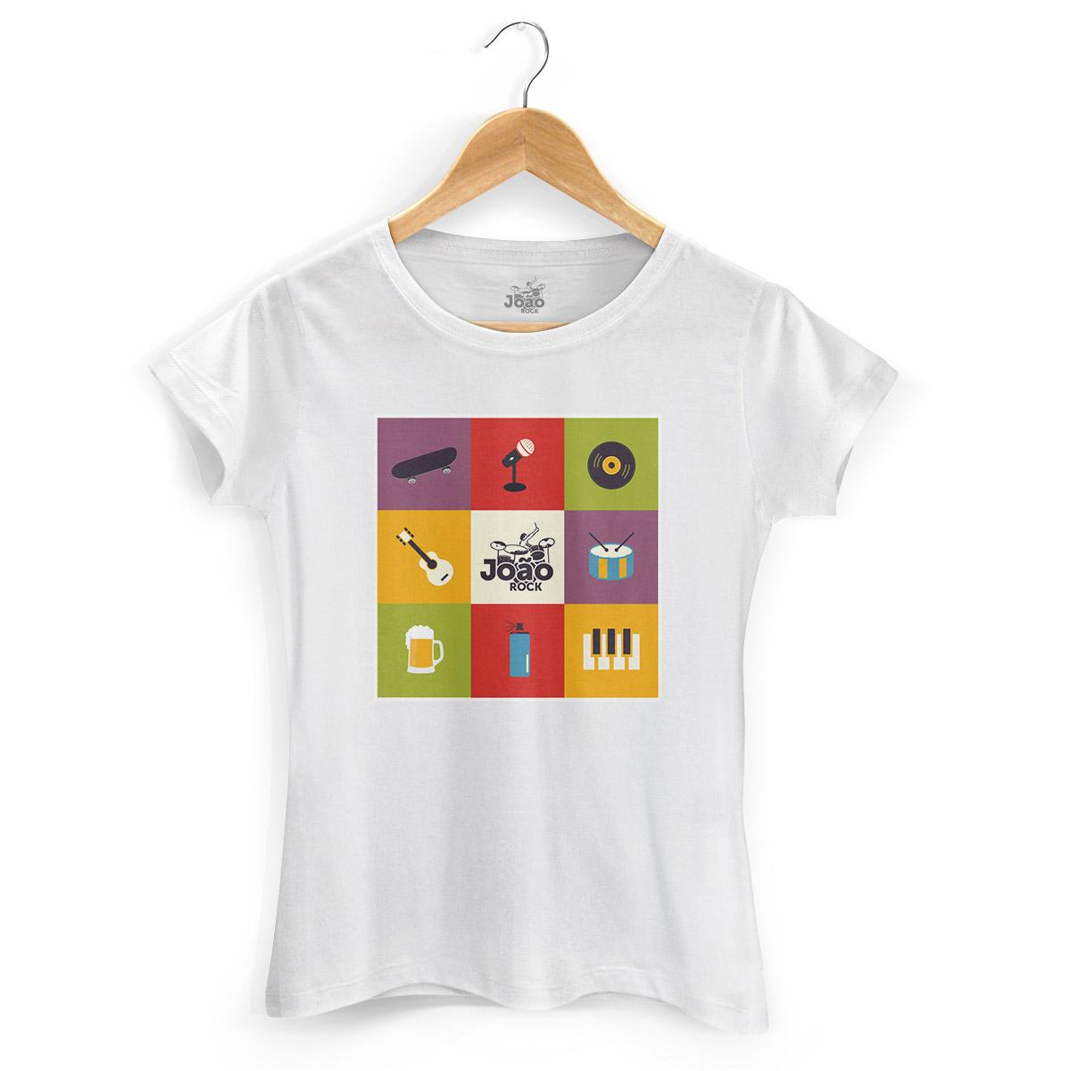 Camiseta Feminina João Rock Instrumentos