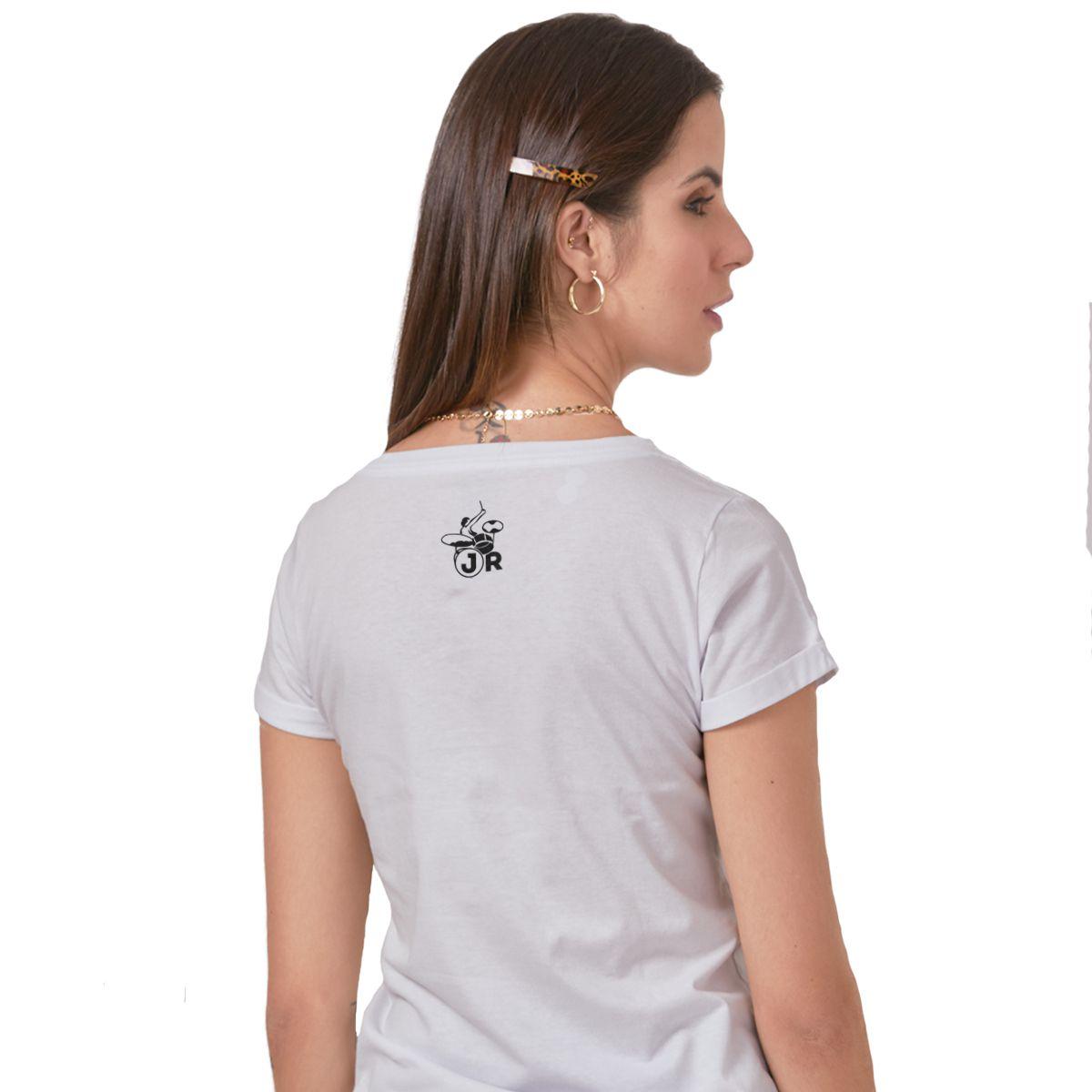 Camiseta Feminina João Rock Música, Paz e Diversão Mod.2