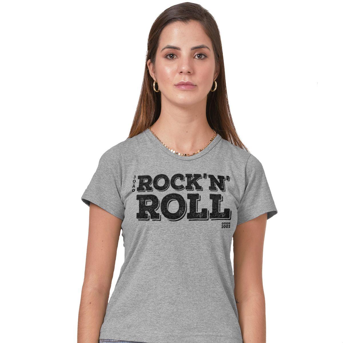 Camiseta Feminina João Rock N' Roll Type