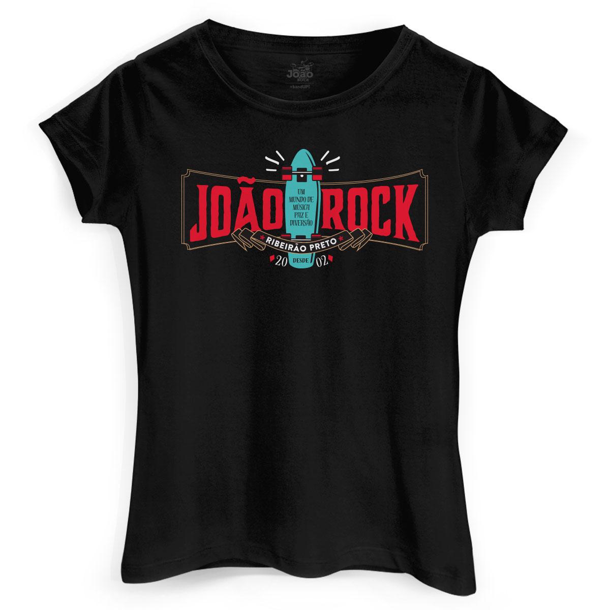 Camiseta Feminina João Rock Old Skate