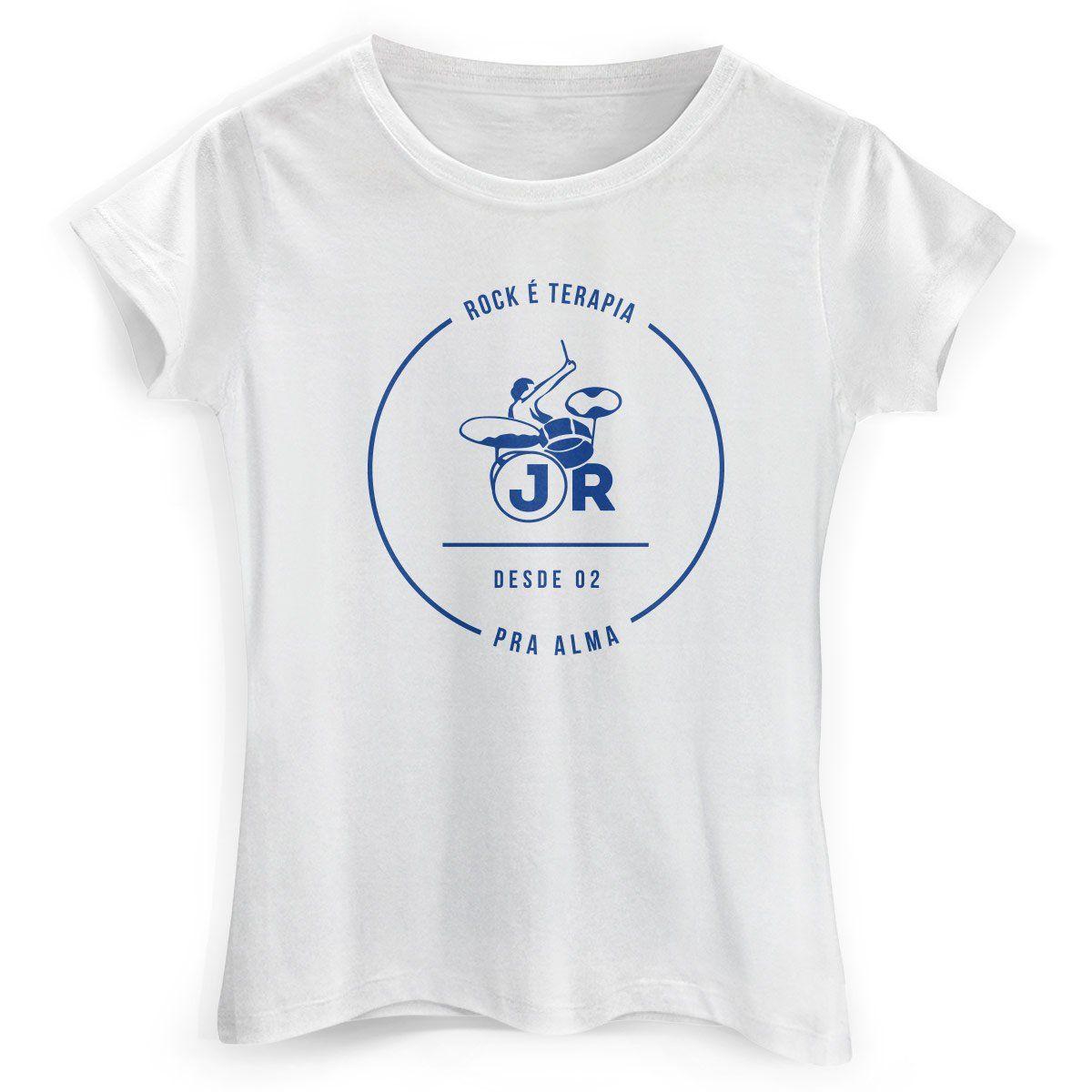 Camiseta Feminina João Rock Rock é Terapia