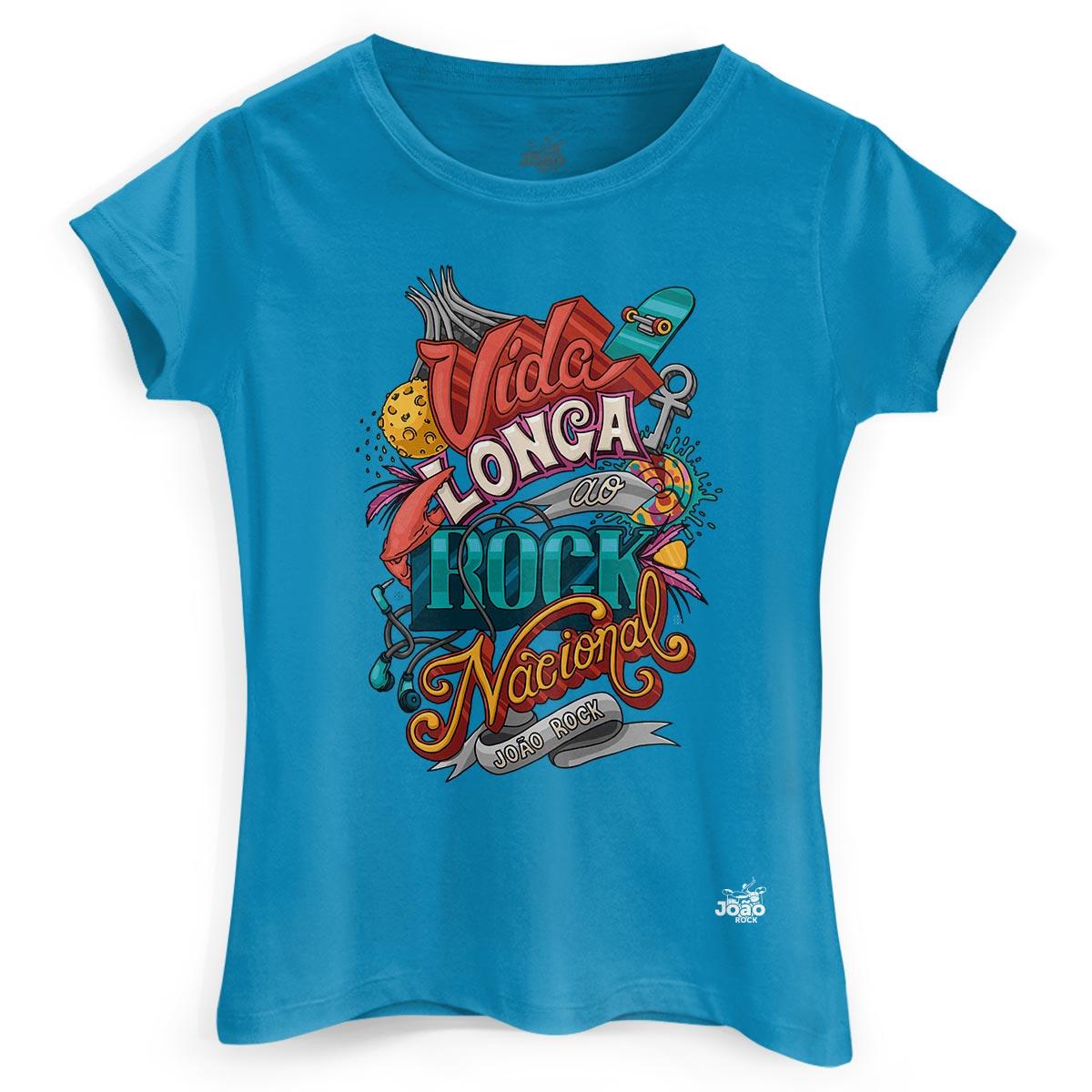Camiseta Feminina João Rock Vida Longa ao Rock Nacional 3