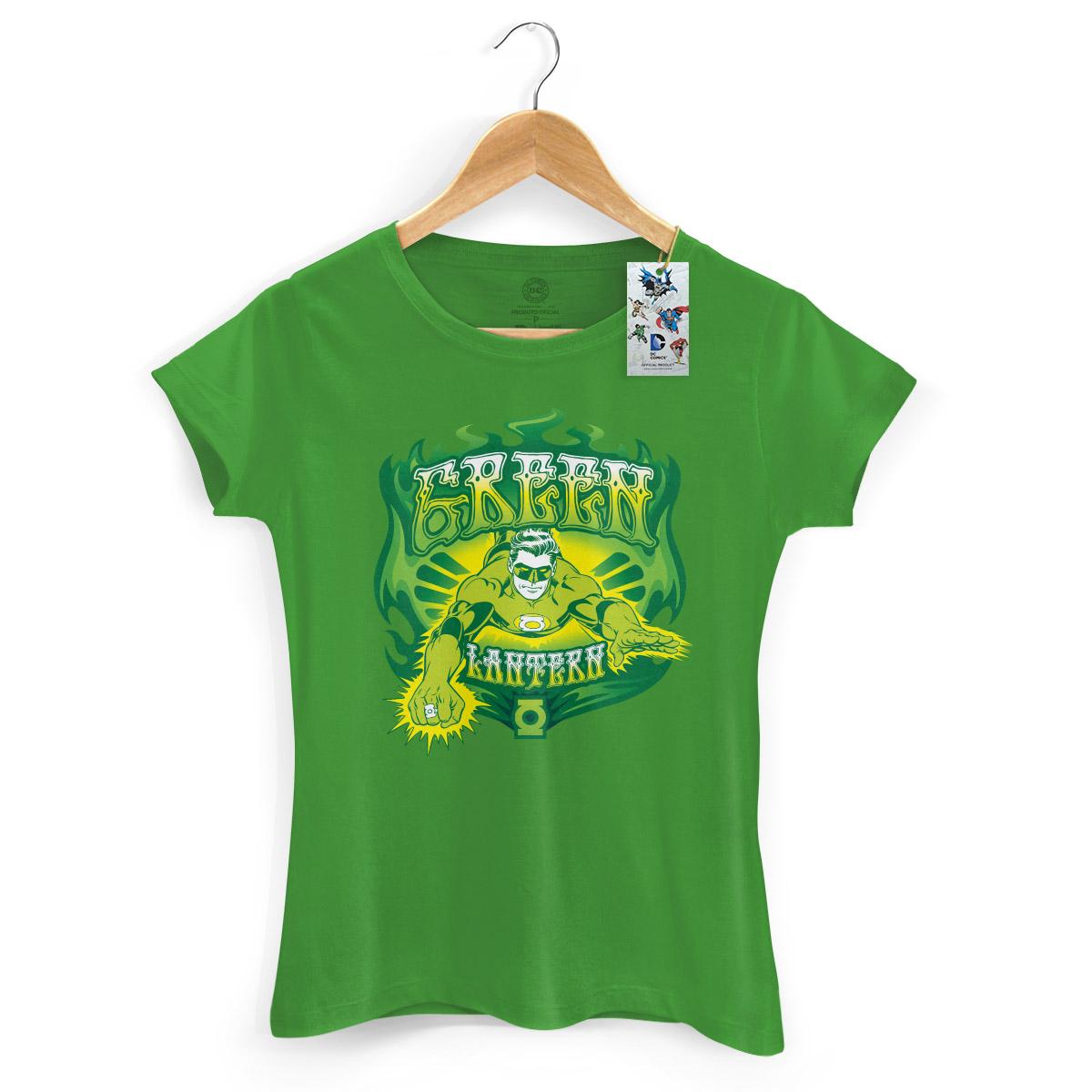 Camiseta Feminina Lanterna Verde Em Ação