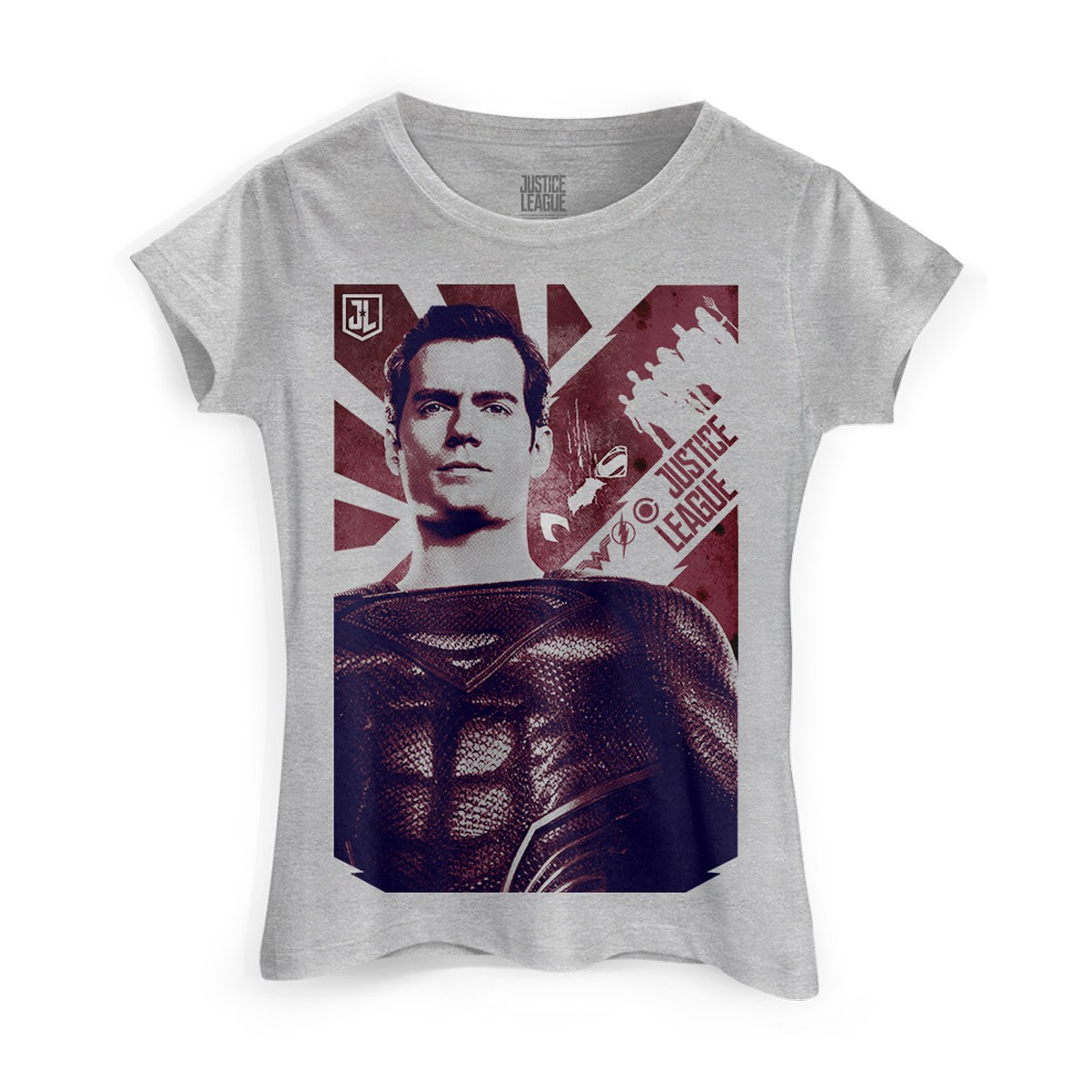 Camiseta Feminina Liga da Justiça Superman