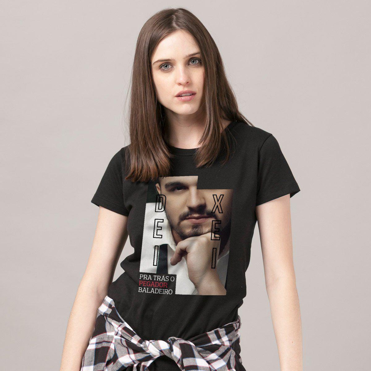 Camiseta Feminina Luan Santana Deixei pra Trás