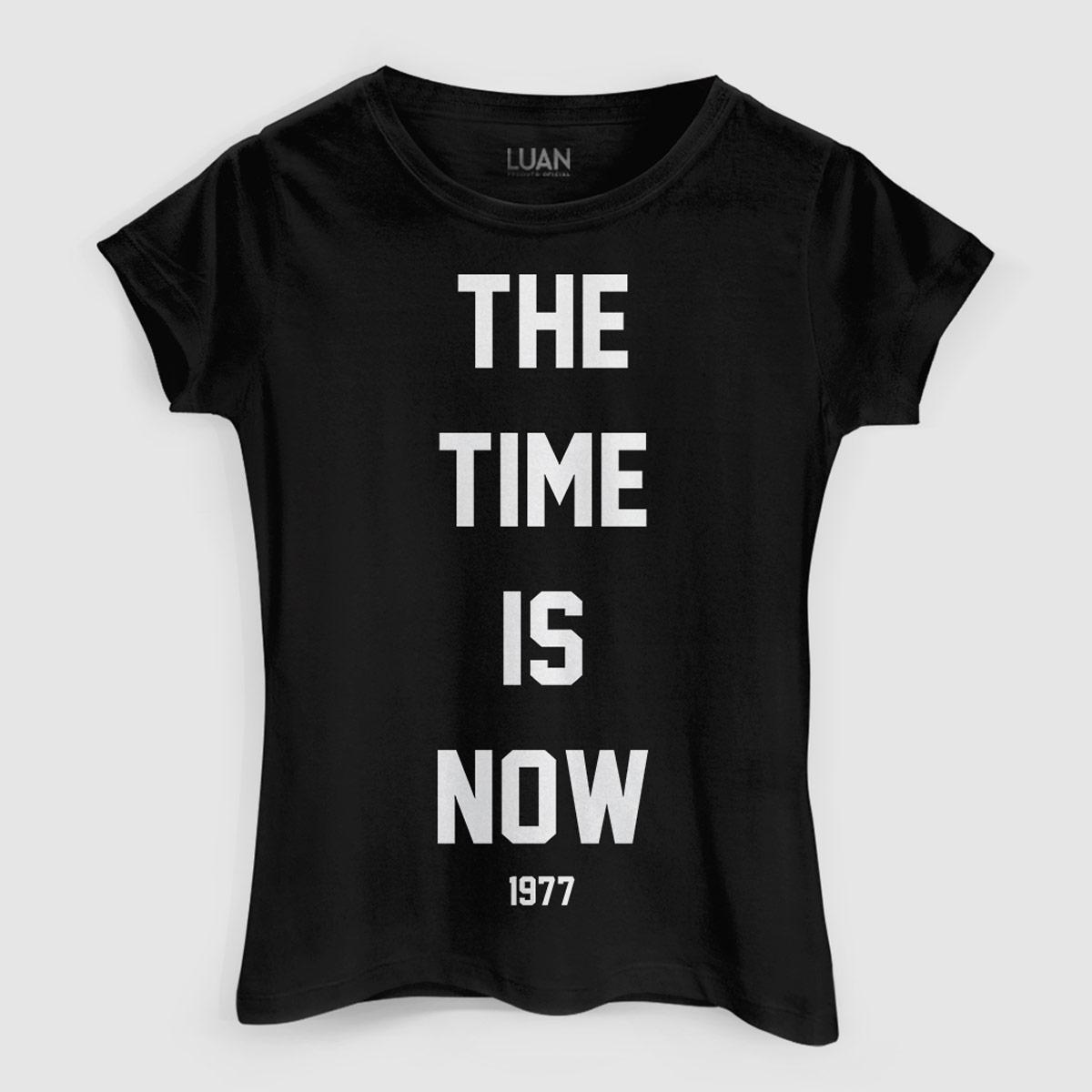 Camiseta Feminina Luan Santana The Time Is Now