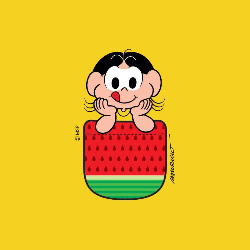Camiseta Feminina Magali 50 Anos Sementes de Melancia