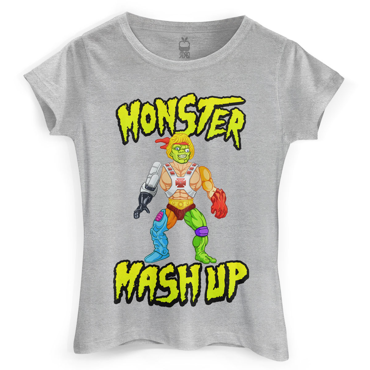 Camiseta Feminina Monstra Maçã Monster Mash Up
