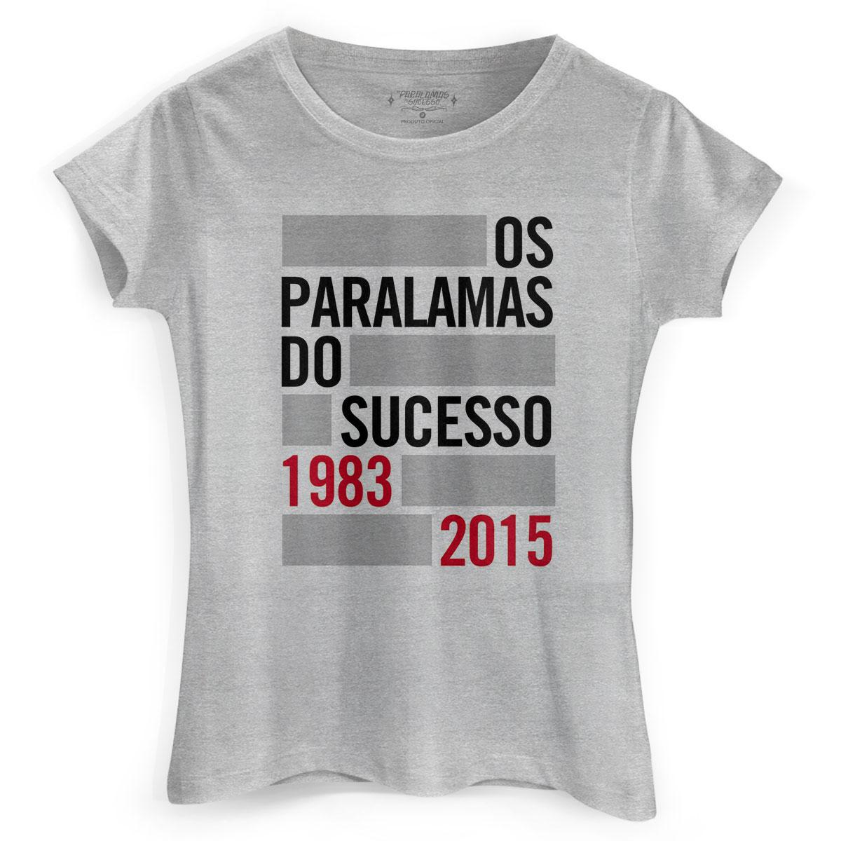 Camiseta Feminina Os Paralamas do Sucesso 1983-2015