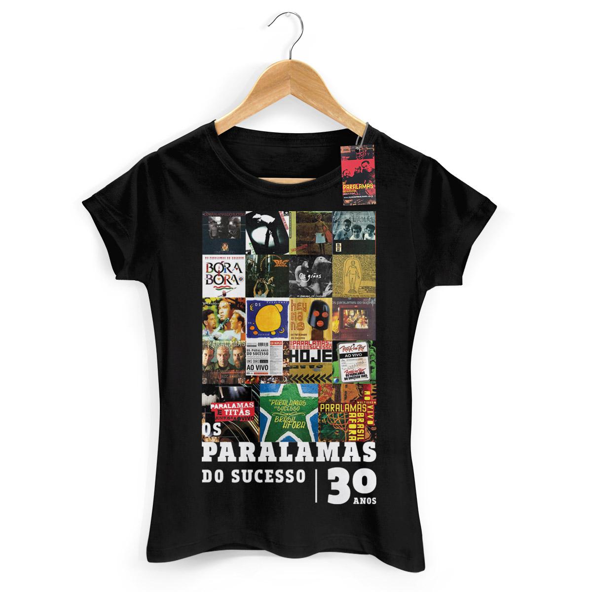 Camiseta Feminina Paralamas do Sucesso 30 Anos Modelo 1