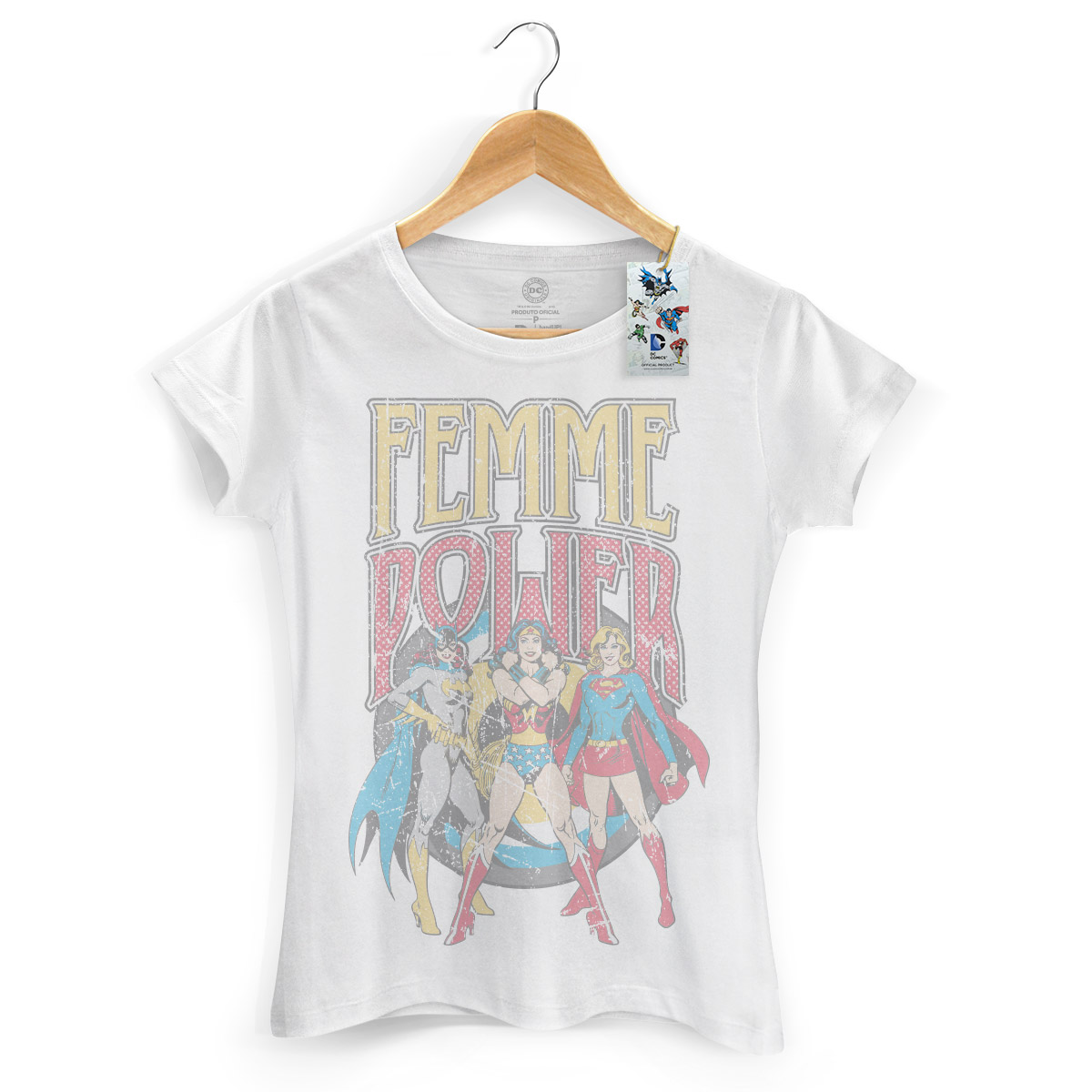 Camiseta Feminina Power Girls Femme Power