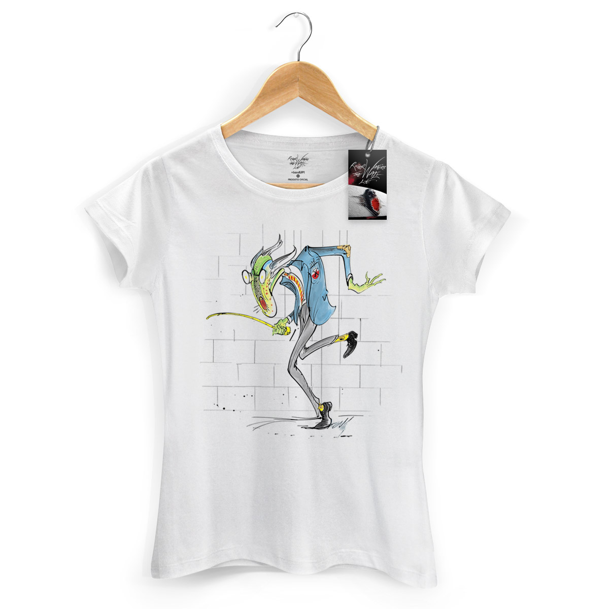 Camiseta Feminina Roger Waters Professor