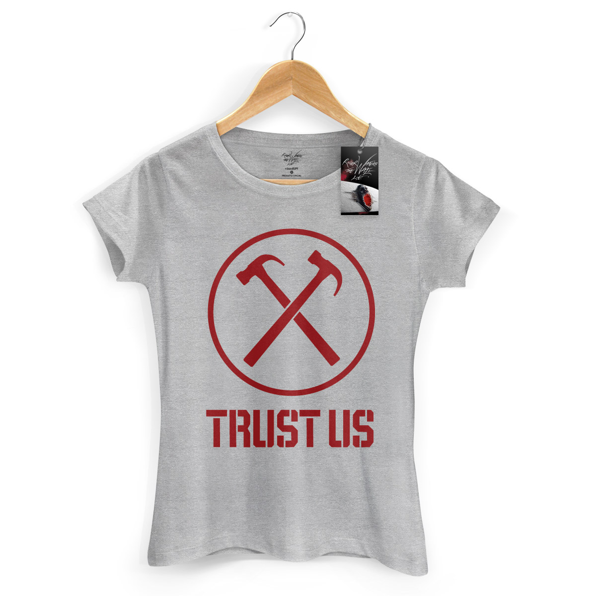 Camiseta Feminina Roger Waters Trust Us