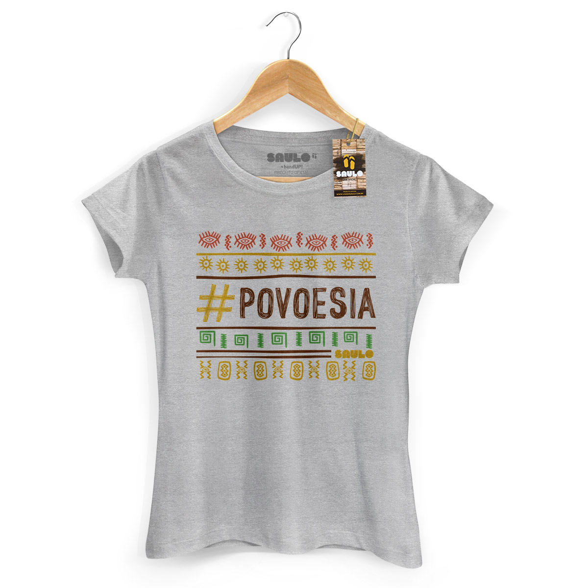 Camiseta Feminina Saulo #Povoesia