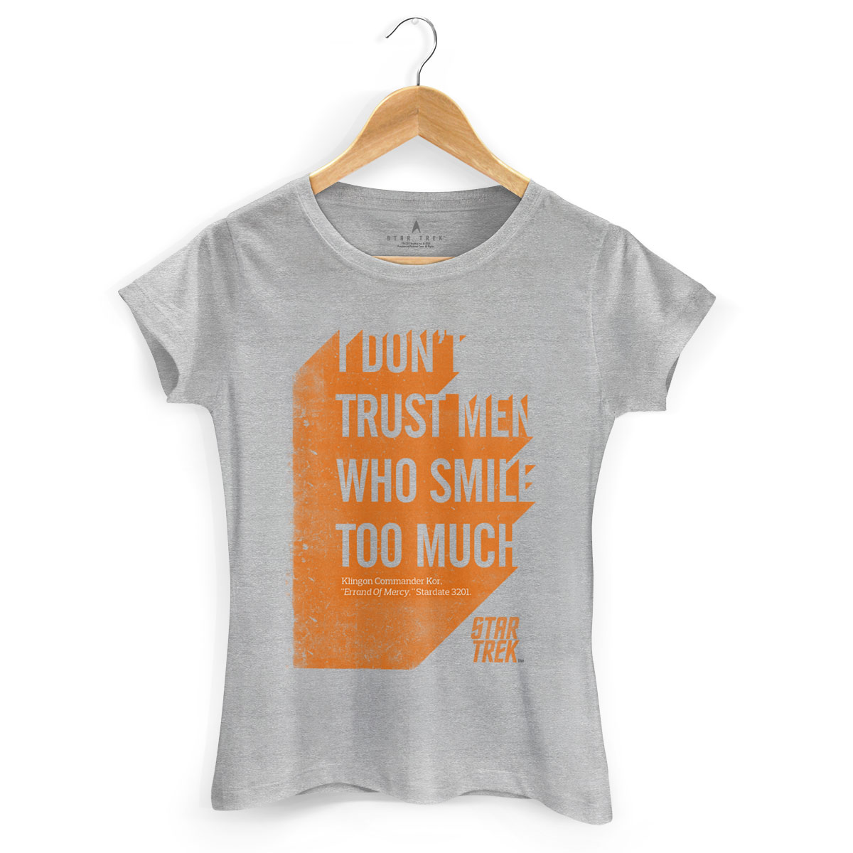 Camiseta Feminina Star Trek Sentence