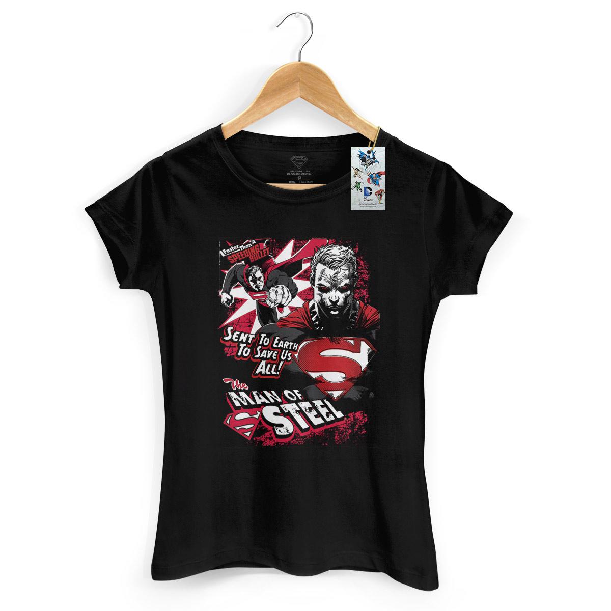 Camiseta Feminina Superman em Ação