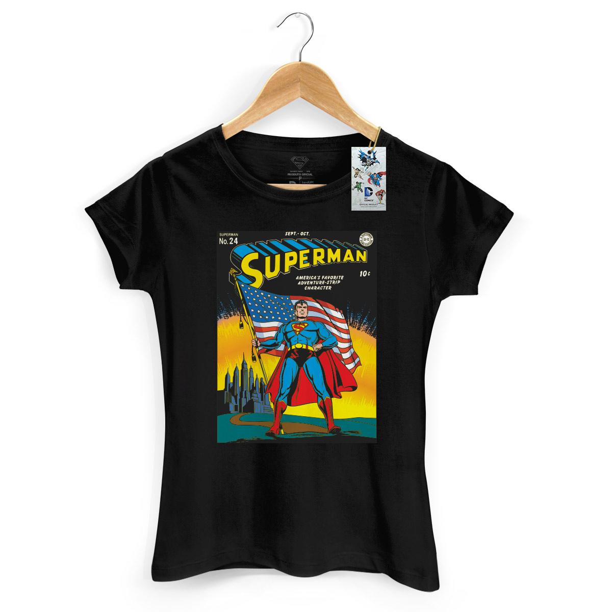 Camiseta Feminina Superman HQ Nº24
