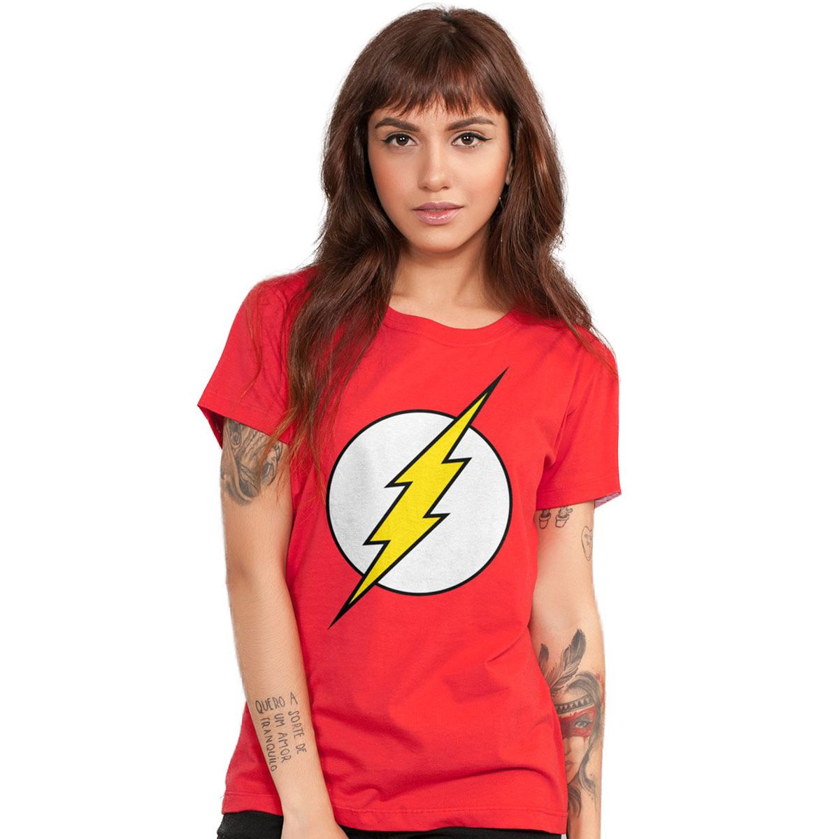 44d6739d42 Camiseta Feminina The Flash Logo