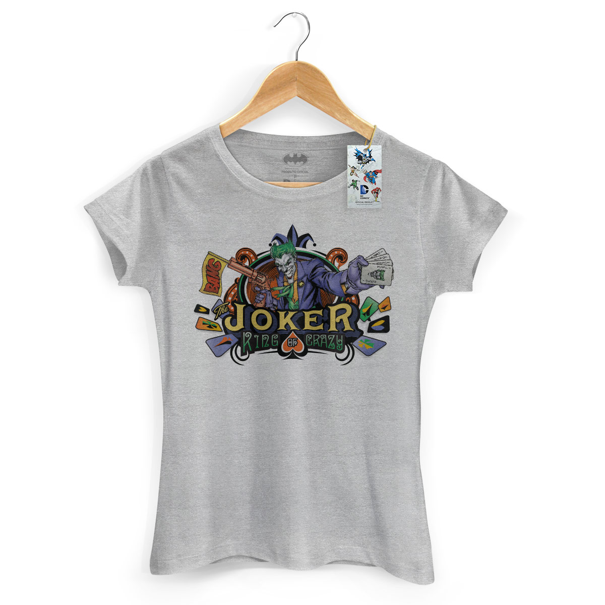 Camiseta Feminina The Joker King Of Crazy