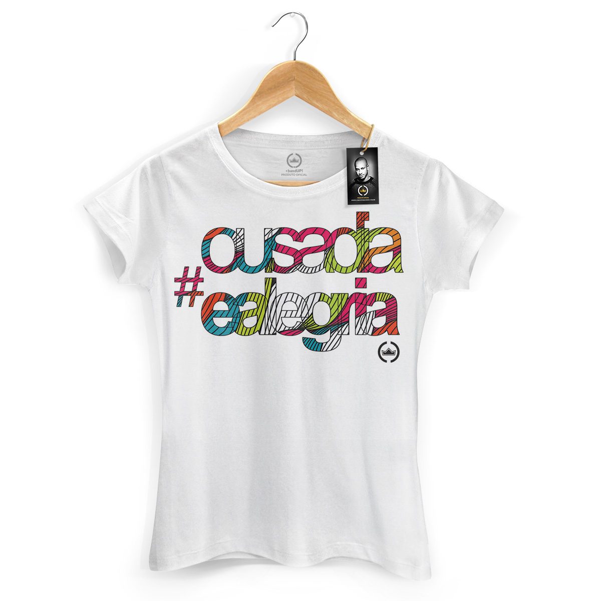 Camiseta Feminina Thiaguinho Ousadia e Alegria Colors