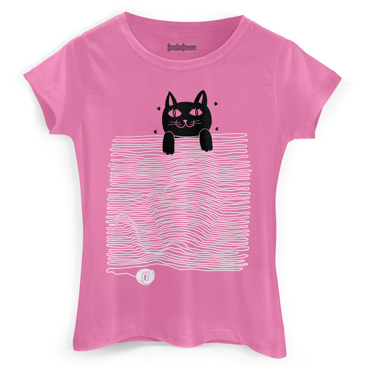 Camiseta Feminina TodaTeen Funny Cat