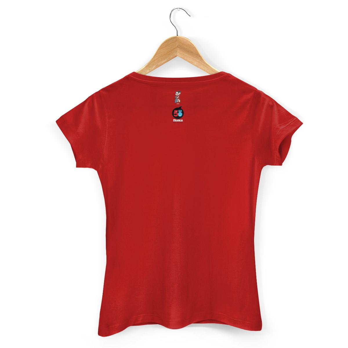 Camiseta Feminina Turma da Mônica 50 Anos Modelo 2 Anos 90
