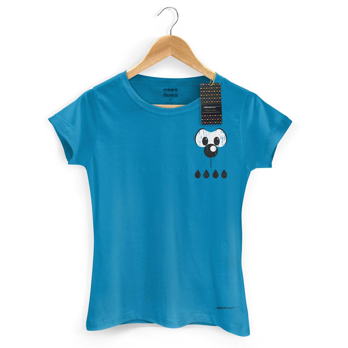 Camiseta Feminina Turma da Mônica Cool Olhões Bidu
