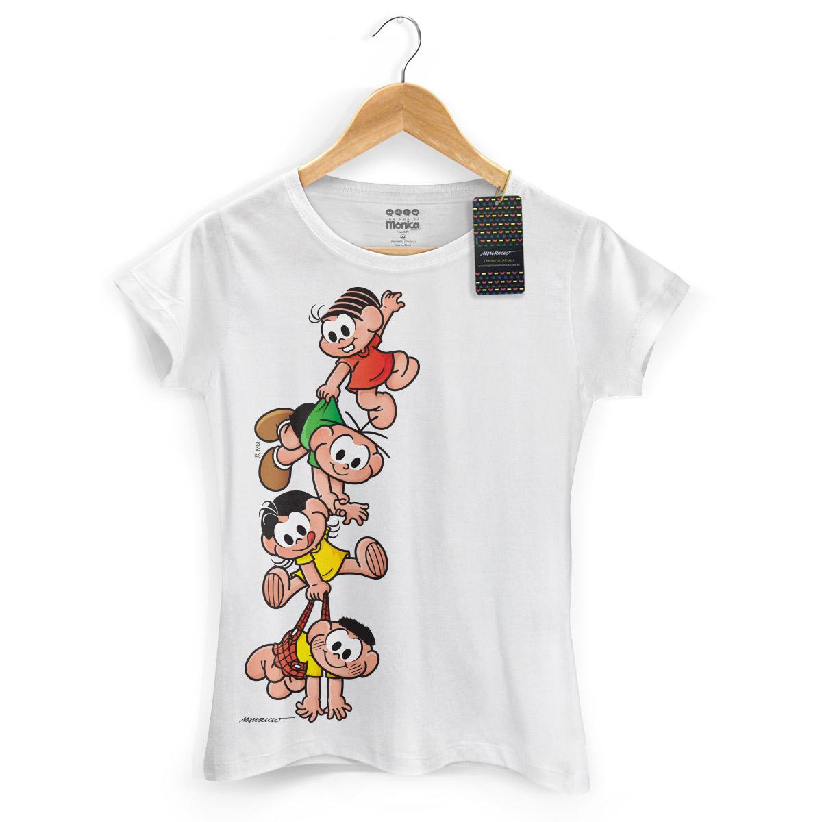 Camiseta Feminina Turma Da Mônica Kids A Turma