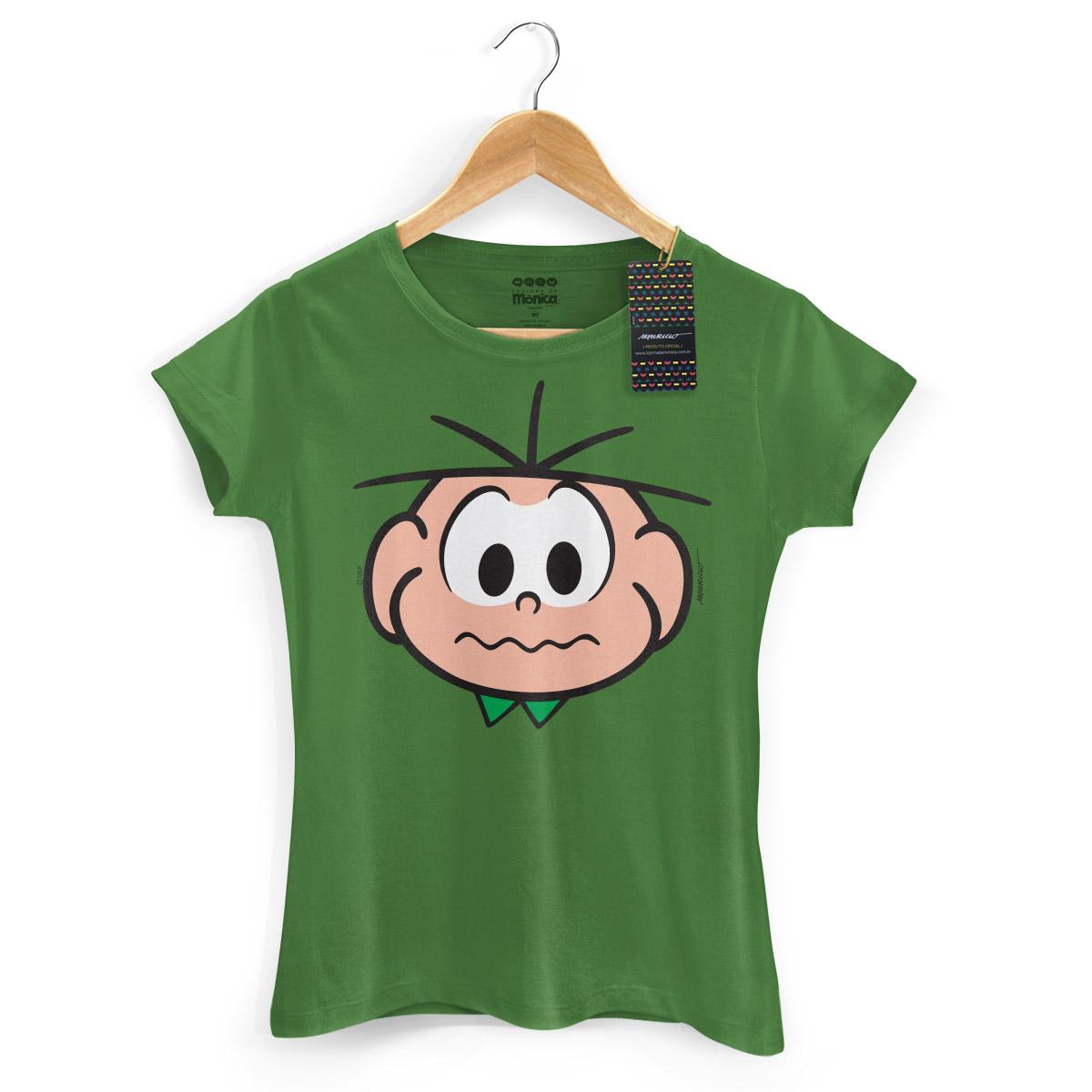 Camiseta Feminina Turma Da Mônica Kids Face Cebolinha