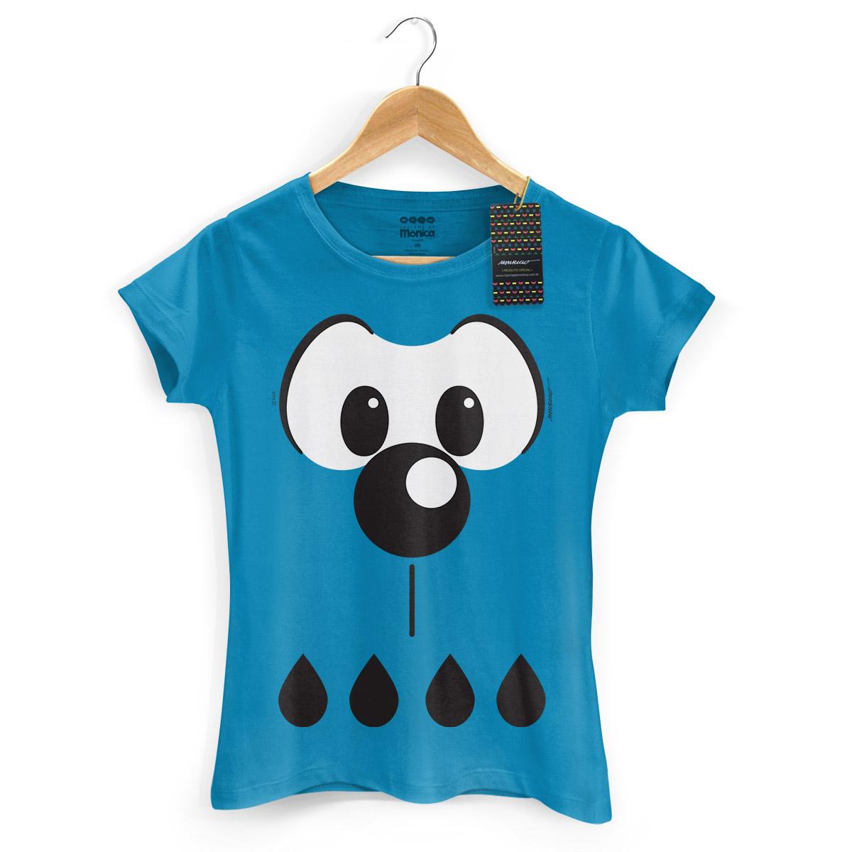 Camiseta Feminina Turma Da Mônica Kids Olhões Bidu