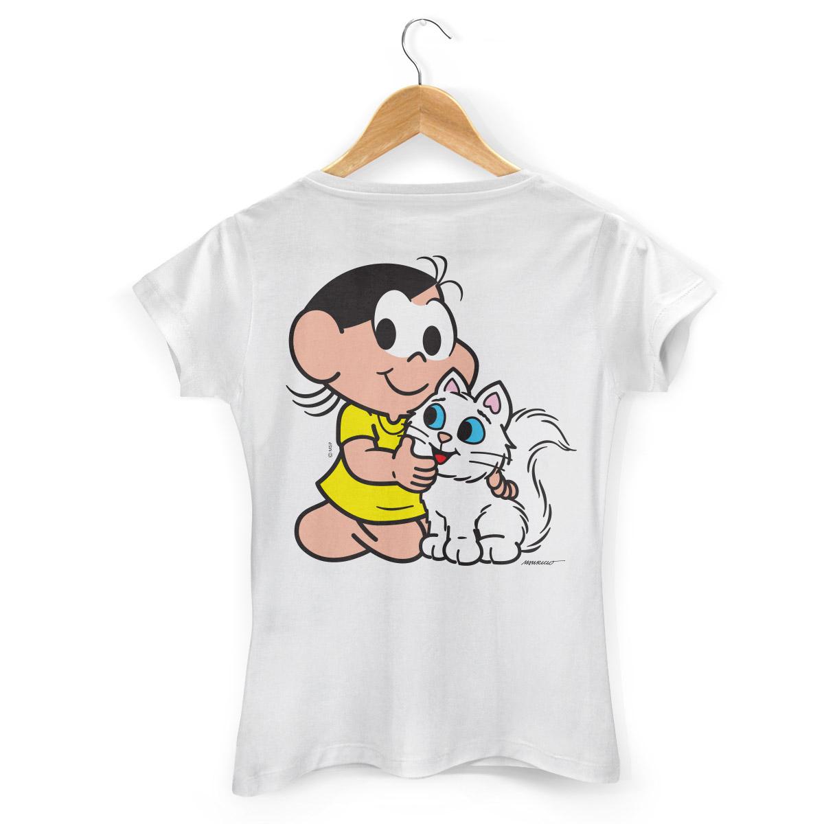 Camiseta Feminina Turma da Mônica Kids Olhões Mingau