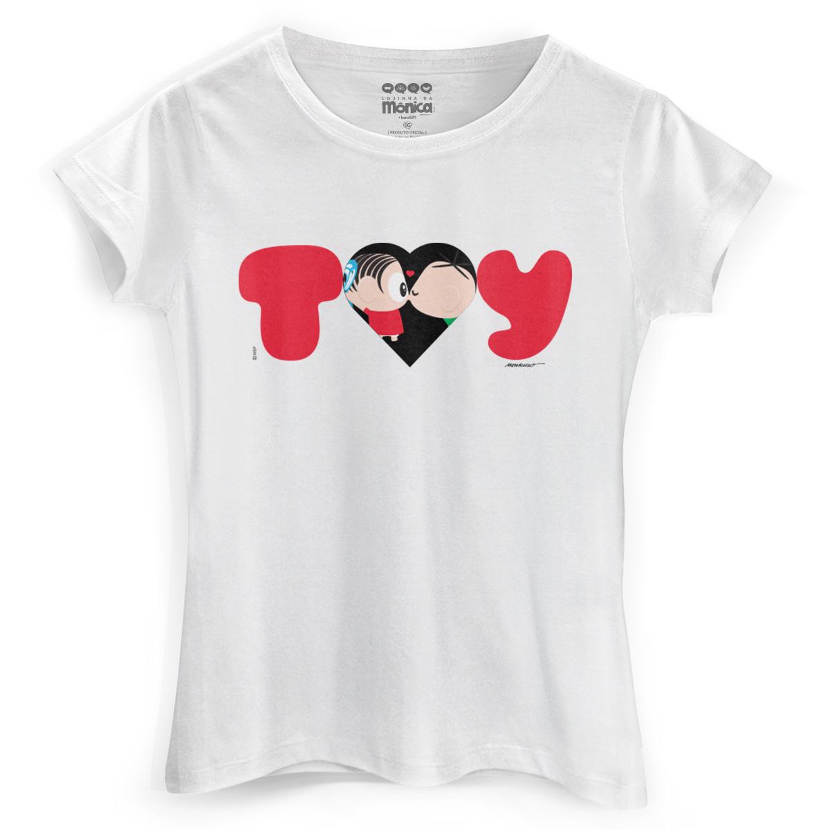 Camiseta Feminina Turma da Mônica Toy Love