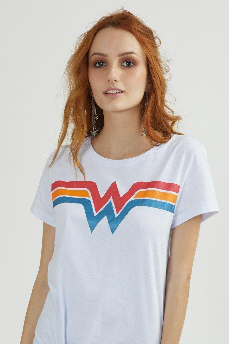 Camiseta Feminina Wonder Woman Power Logo