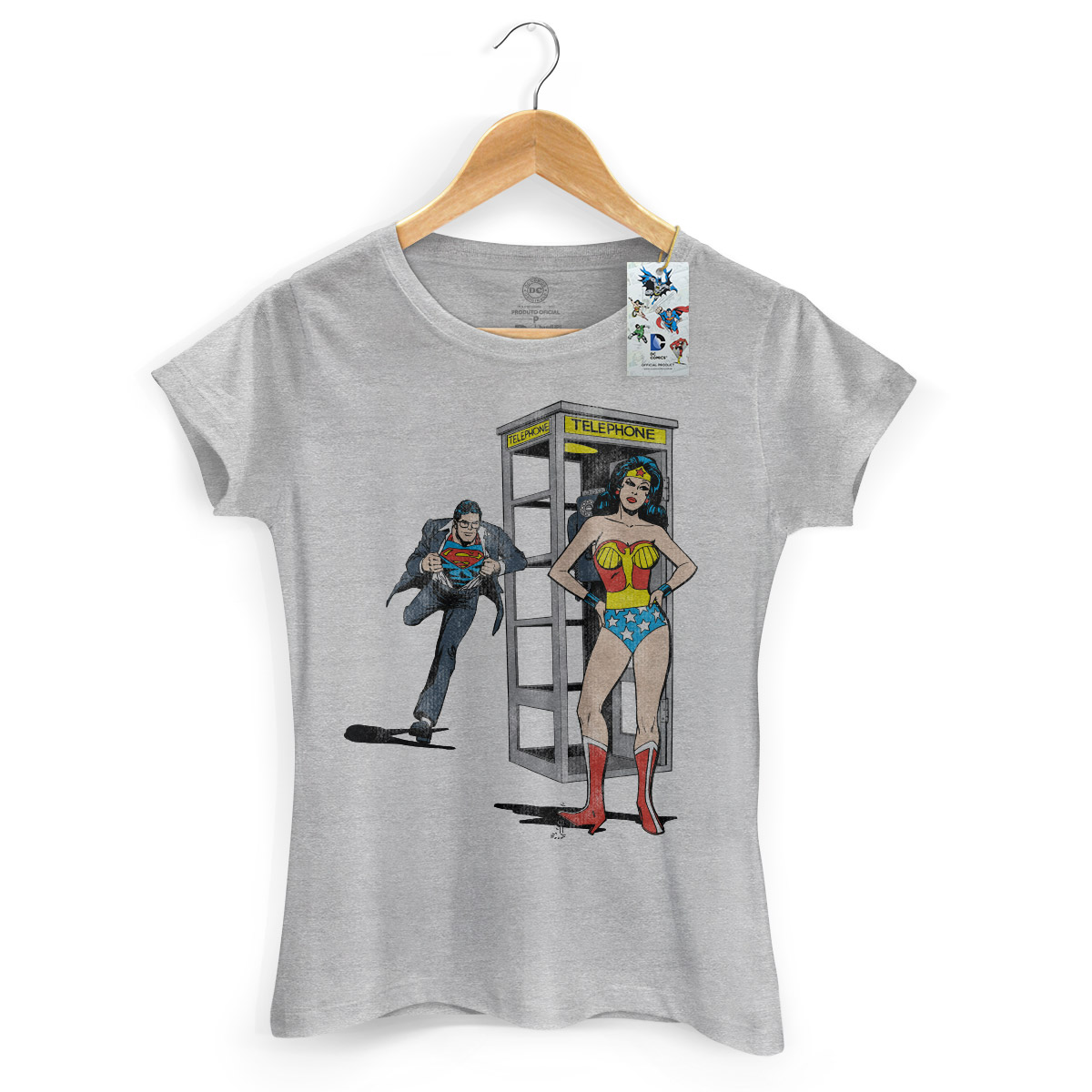 Camiseta Feminina Wonder Woman Telephone