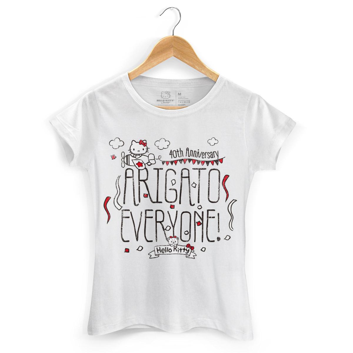 Camiseta Hello Kitty Arigato Everyone