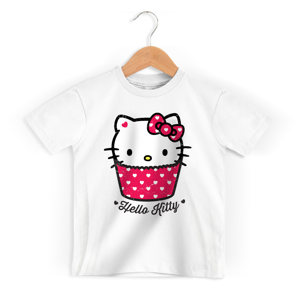 Camiseta Infantil Hello Kitty Cup Kitty