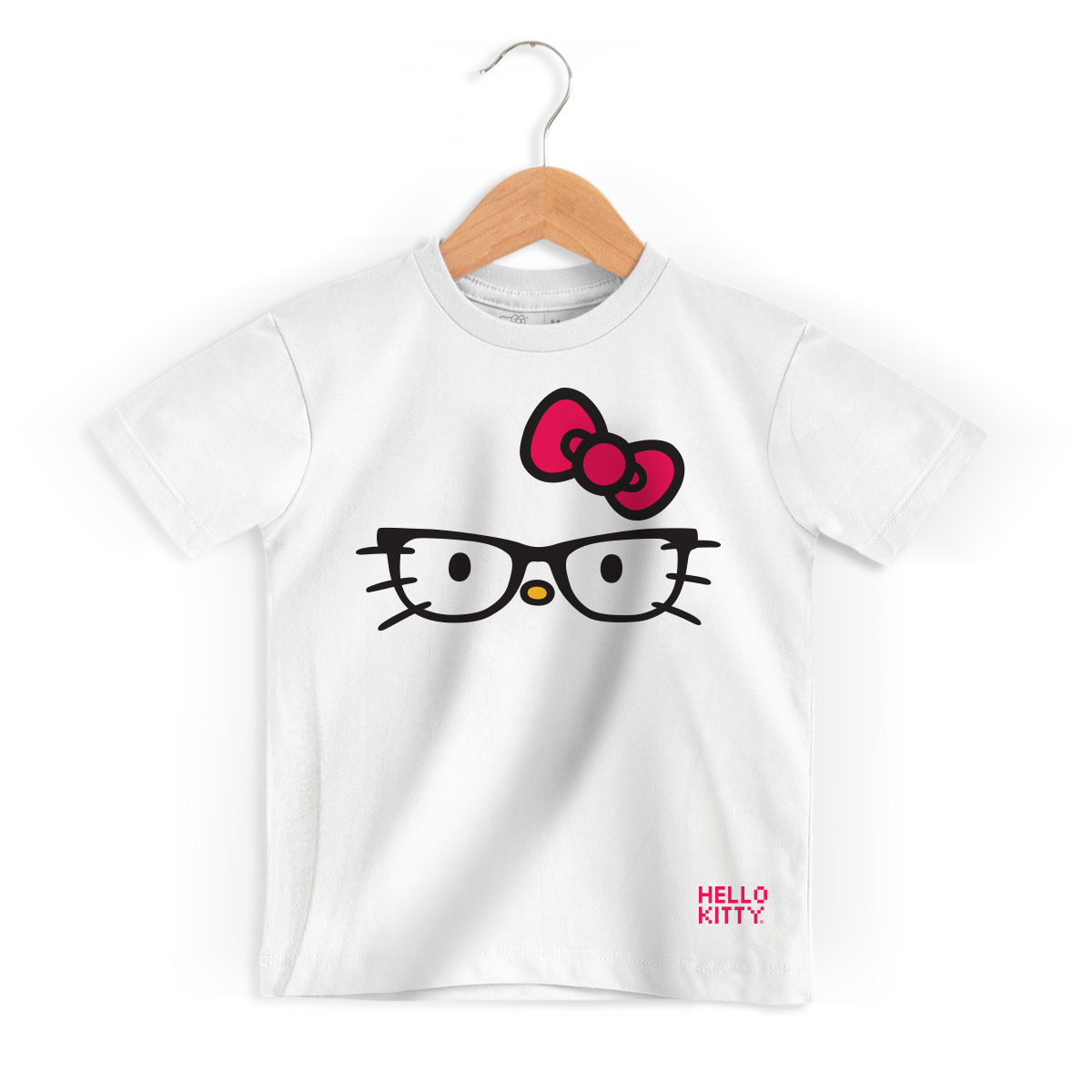 Camiseta Infantil Hello Kitty Glasses