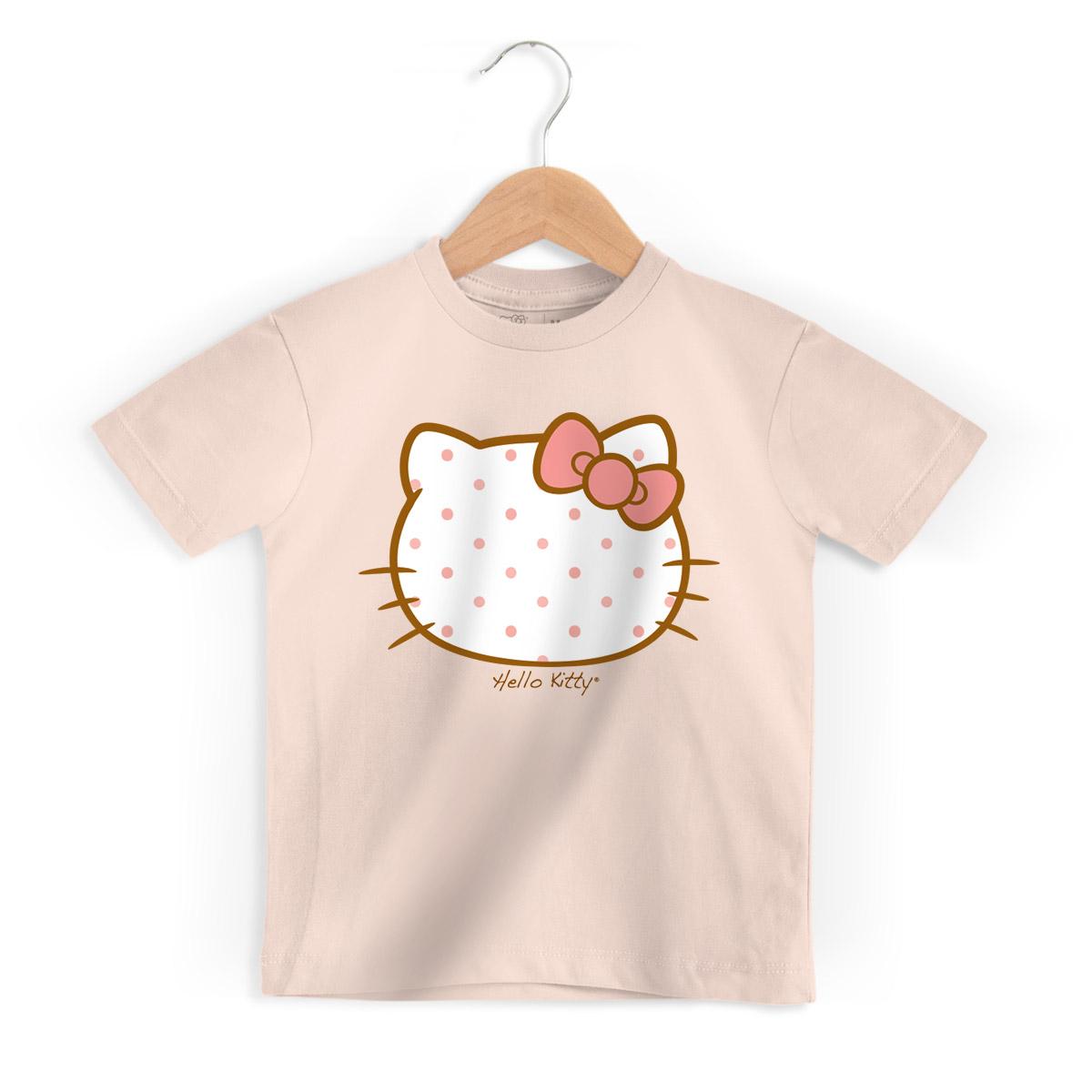 Camiseta Infantil Hello Kitty Poá Paris