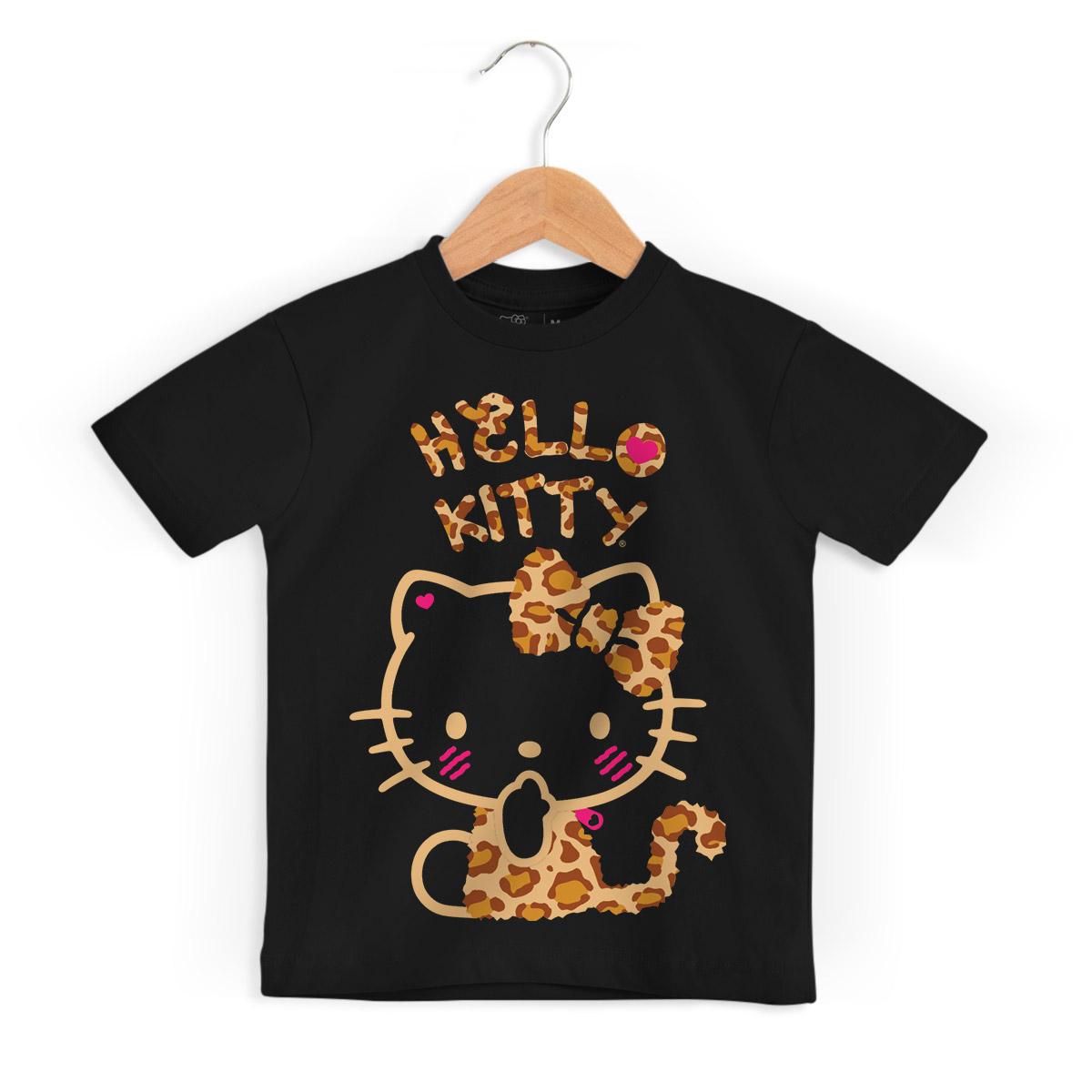 Camiseta Infantil Hello Kitty Print Fuzzy 3