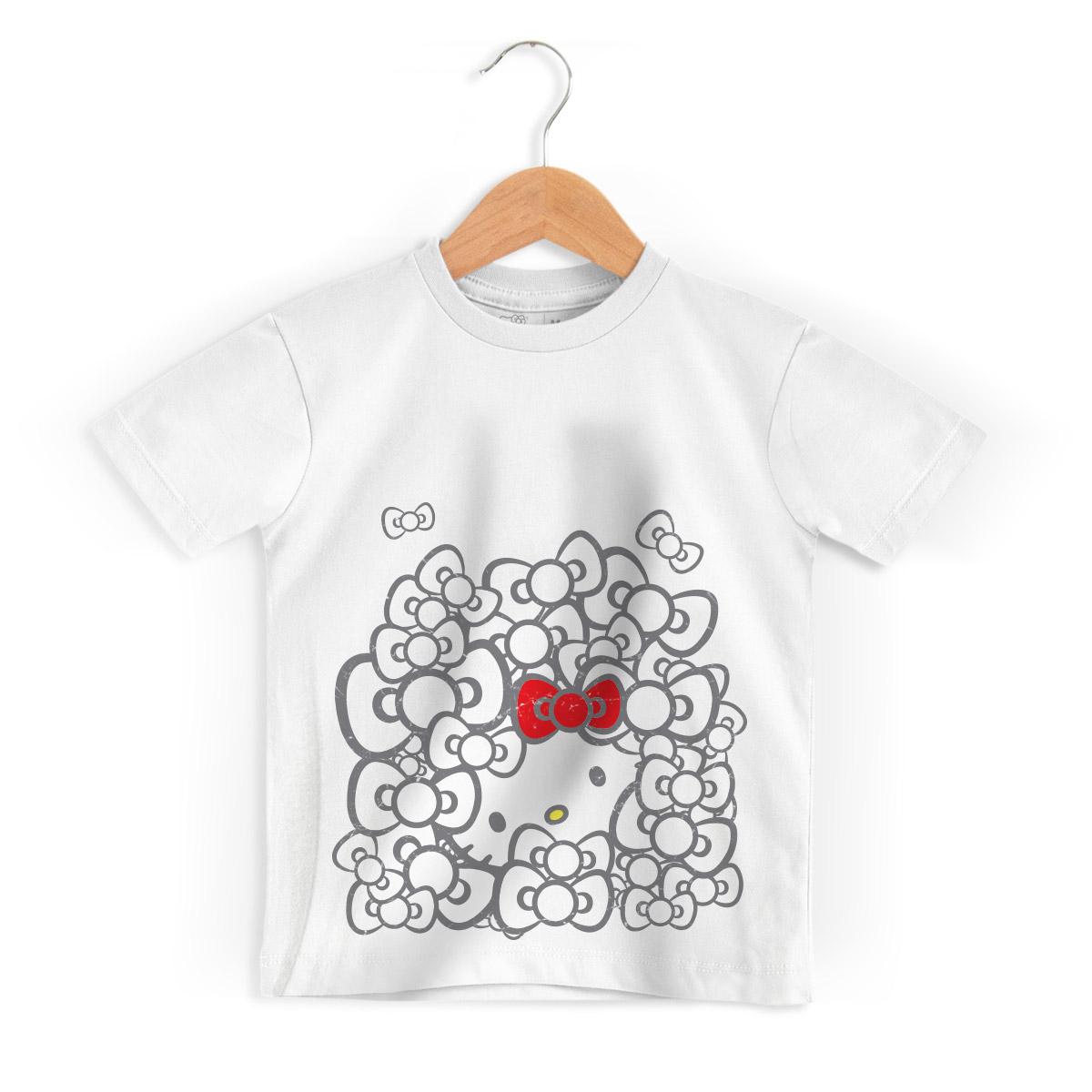 Camiseta Infantil Hello Kitty Ribbons