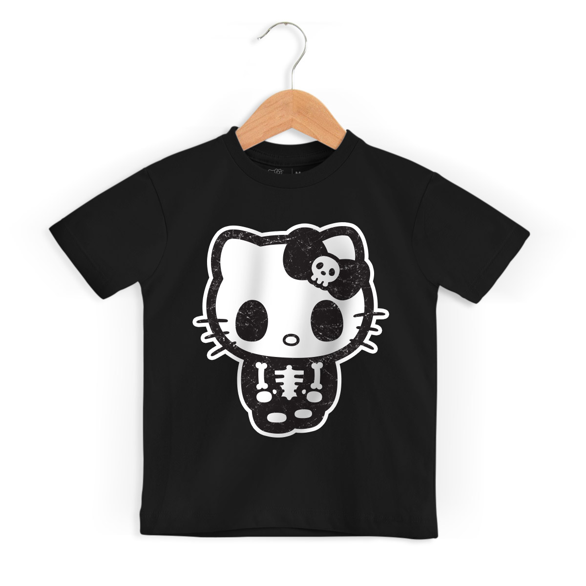 Camiseta Infantil Hello Kitty Skull