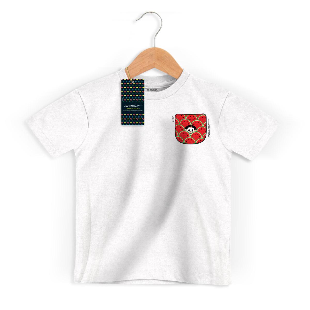 Camiseta Infantil Magali 50 Anos Melancia