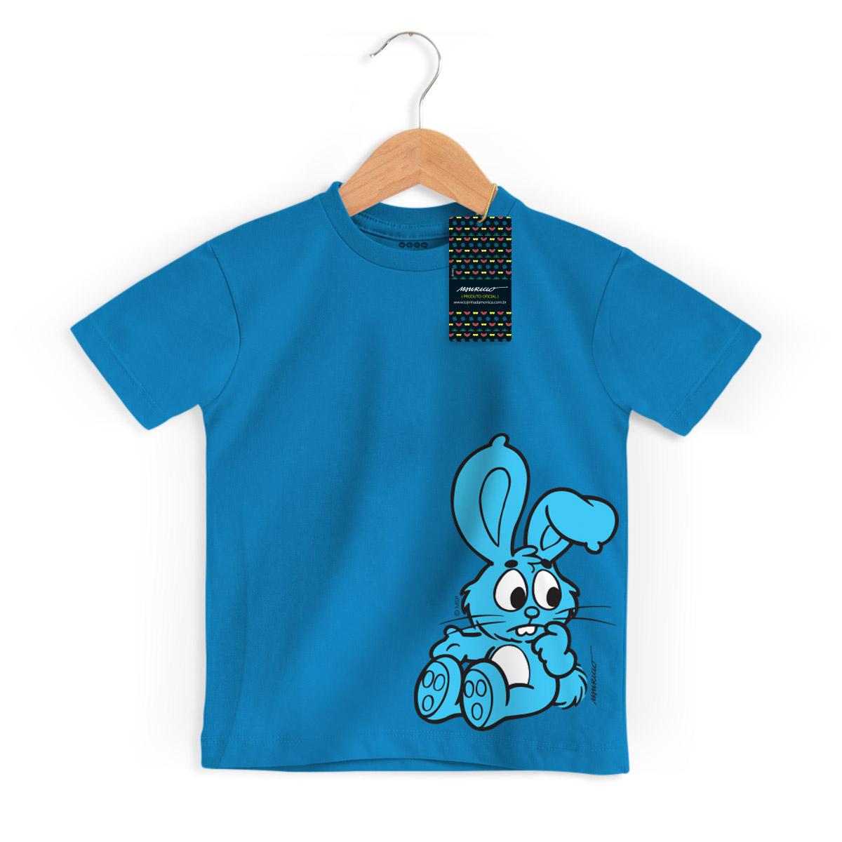 Camiseta Infantil Turma Da Mônica Kids Sansão Azul