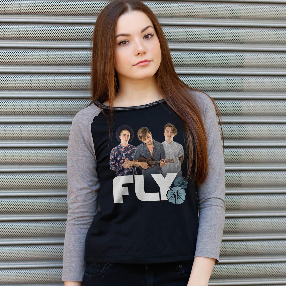 Camiseta Manga Longa Feminina Banda Fly Sunset Photo