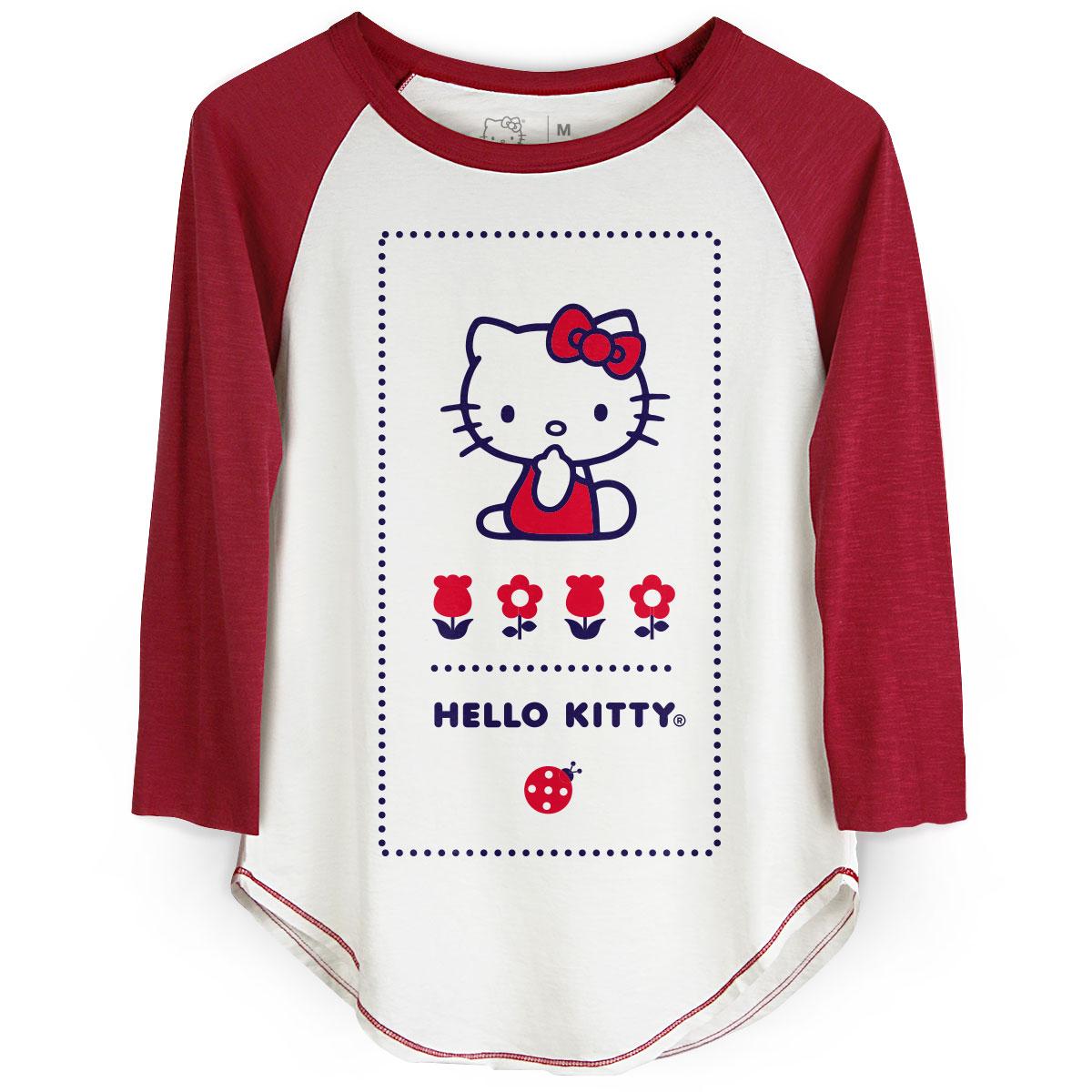 Camiseta Manga Longa Feminina Hello Kitty Ladybug