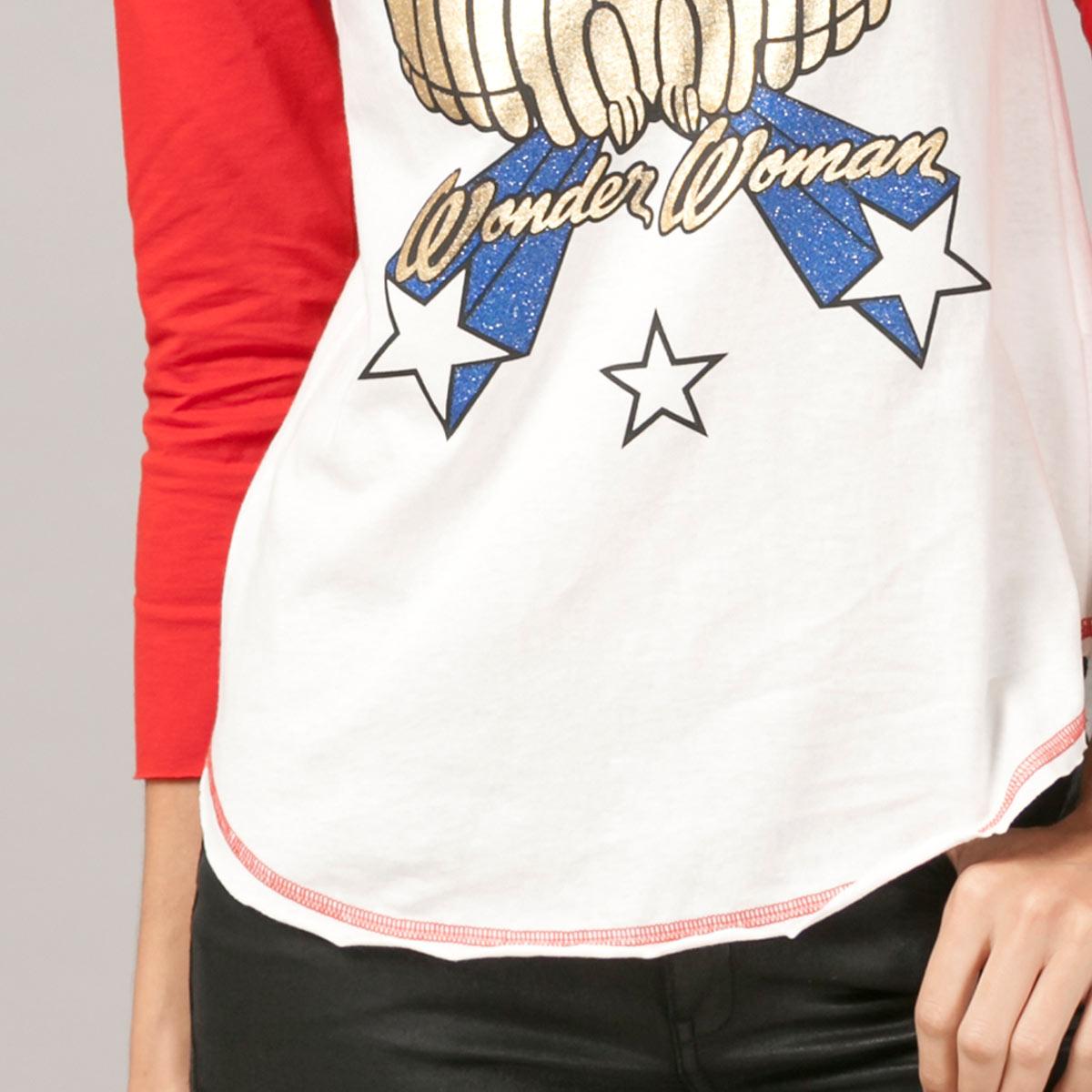 Camiseta Manga Longa Feminina Mulher Maravilha Retrô