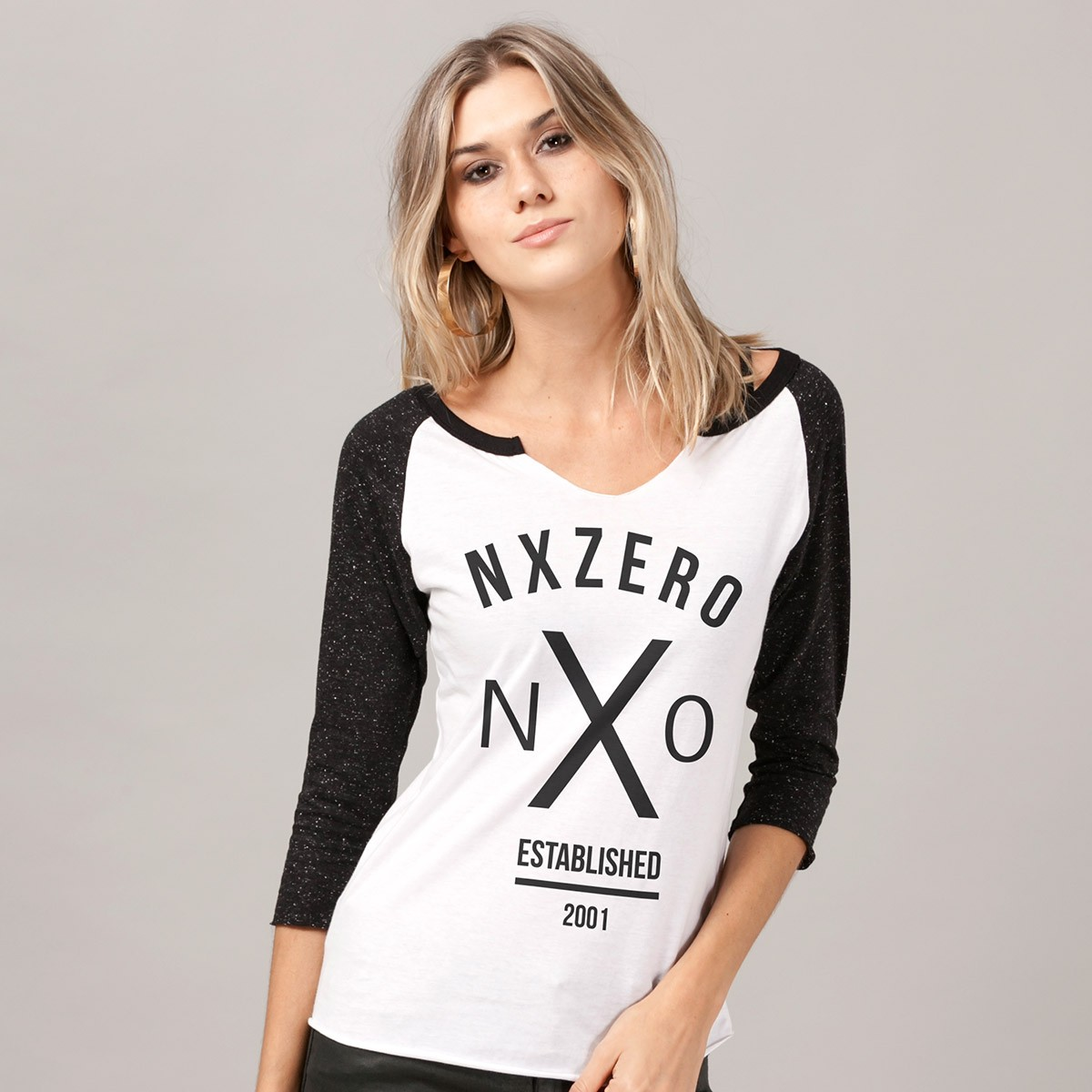 Camiseta Manga Longa Feminina NXZero Established