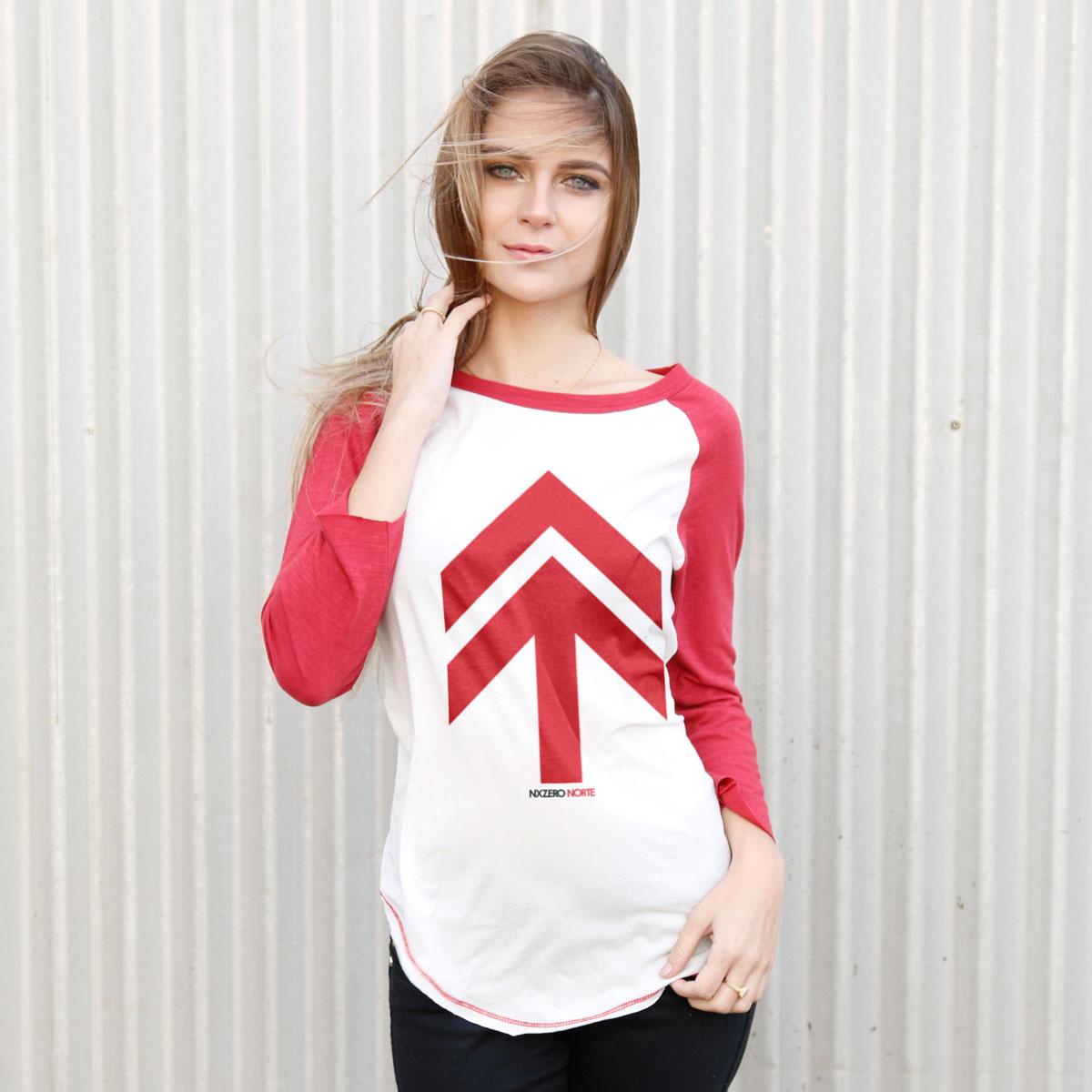 Camiseta Manga Longa Feminina NXZero Norte