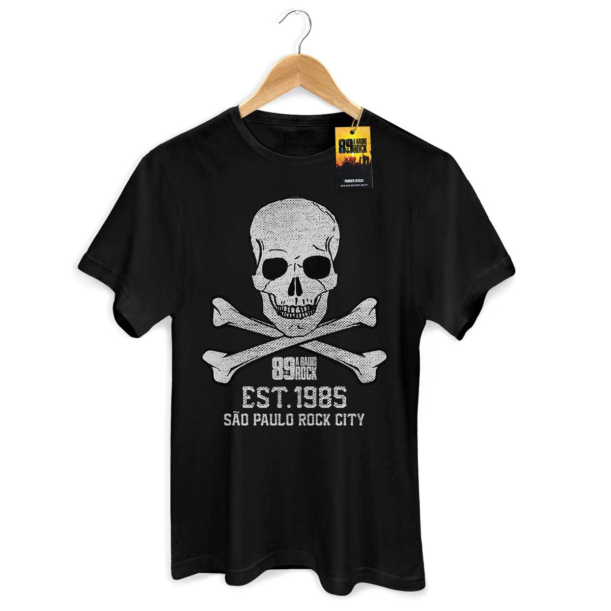 Camiseta Masculina 89 FM A Rádio Rock Est 1985